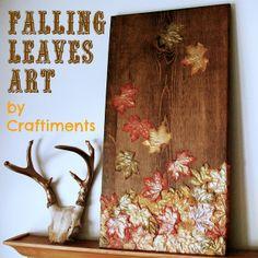 Craftiments:  Falling Leaves Mixed Media Art