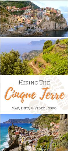 Want to visit the Cinque Terre away from the heavy crowds? Along the colorful 5 towns of Cinque Terre, hiking is a great way to see a more natural view of the Ligurian coast. The Cinque Terre National Park offers light to moderate trail hiking, endless blue Mediterranean vistas and charming hillside towns in between. | Hike Italy, Hike Cinque Terre, Manarola, Riomaggiore, Corniglia, Vernazza, Monterosso al Mare, 5Terre, #5terre, #hikeCinqueTerre