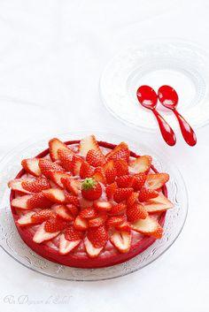 Super red, fresh, fruit-filled, scrumptious Ultra Strawberry Tart! #tart #strawberries #fruit #summer #red #food #cooking #dessert