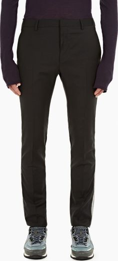 Lanvin Charcoal Side-Stripe Wool Trousers The Lanvin Side-Stripe Wool Trousers for AW16, seen here in charcoal. - - Crafted in Italy from premium wool and cut to offer a slim fit, these trousers from Lanvin are finished with a contrasting str http://www.comparestoreprices.co.uk/january-2017-6/lanvin-charcoal-side-stripe-wool-trousers.asp