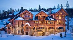 Log cabin mansion #dreamhome