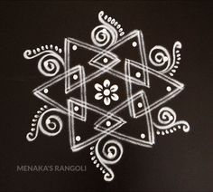 Deepavali Muggulu Easy And Simple Easy Rangoli Designs Diwali, Indian Rangoli Designs, Free Hand Rangoli Design, Rangoli Border Designs, Small Rangoli Design, Rangoli Patterns, Rangoli Ideas, Rangoli Designs Images, Rangoli Designs With Dots