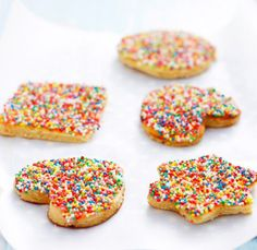 Fairy bread/ cookies cut into shapes