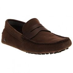 Lacoste Concours 18 Mens 7-30SRM0002-078 Brown Suede Slip On Shoes Size 9.5