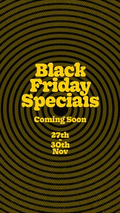 Hit the link to checkout what's in store this Black Friday!