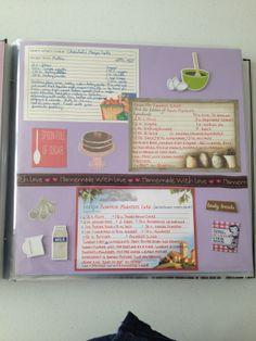 scrapbook/cookbook ideas (plus my own)