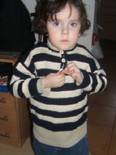 Pásovaný pulover na 3 roky | PLETENÍ – NÁVODY