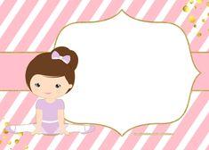 FREE Golden Ballerina Birthday Invitation Templates | FREE Invitation Templates - Drevio