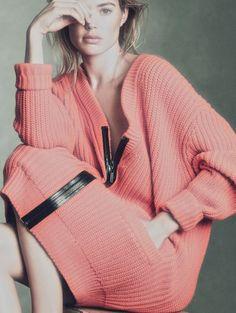 """""""Special Mode"""" III (Part 1) Elle France 2013, Doutzen Kroes by Andreas Sjödin. (Sweater dress: Michael Kors)"""
