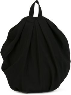 Yohji Yamamoto round draped backpack | Architect's Fashion