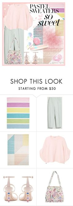 """""""Pastel Sweater"""" by jeneric2015 ❤ liked on Polyvore featuring Max&Co., MANGO, Sophia Webster and pastelsweaters"""