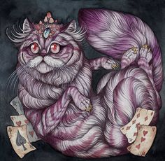 the Cheshire Cat  (Alice in Wonderland)  2014 by Caitlin Hackett