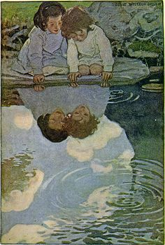 Reflections—Jessie Wilcox Smith—From First Edition of Child's Garden of Verses, via finsbry