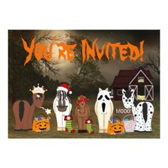 Cute Horse Themed Halloween Party Invitation