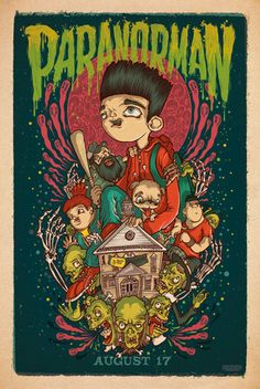 Focus Features has released six posters for the stop-motion animation film ParaNorman starring the voice talents of John Goodman, Anna Kendrick, Casey Rock Poster, New Poster, Poster Wall, Poster Prints, Movie Wallpapers, Animes Wallpapers, Arte Indie, Images Murales, Anime Kunst
