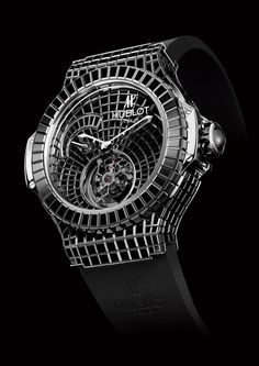 34.5 carat Hublot Black Caviar Bang. In case you're looking for a watch to frighten little children.