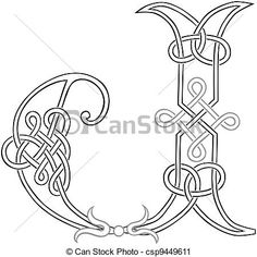 Celtic knots alphabet letters Clip Art Vector and Illustration. 99 Celtic knots alphabet letters clipart vector EPS images available to search from thousands of royalty free stock art and stock illustration designers. Celtic Patterns, Celtic Designs, Cross Stitch Patterns, Alphabet Letters Images, Letter J, Celtic Symbols, Celtic Art, Celtic Alphabet, Letter Vector