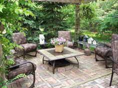 beautiful garden patio