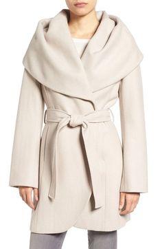 Tahari Wool Blend Belted Wrap Coat $229.90 (33% off) Runs small comes in black, merlot, camel