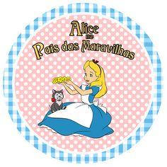 Alicia en Rosa y Celeste: Kit para Fiestas para Imprimir Gratis.