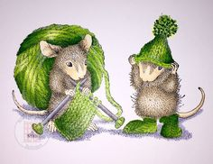 House Mouses winter knitting.