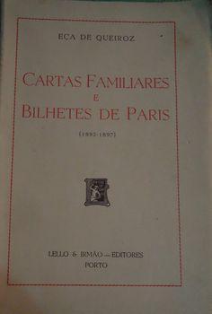 Cartas Familiares e Bilhetes de Paris (1893-1897) | VITALIVROS
