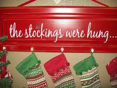 The Stockings Were Hung Cupboard Door