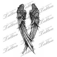 Fallen Angel wings custom tattoo | wings 3 #31308 | CreateMyTattoo.com