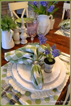 I'm celebrating the season with a Spring Tablescape, Although, the season doesn't really want to celebrate here, just yet. We still had...