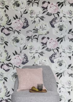 Pioni Fabric    Pentik Spring 2018   Create a beautiful spring home with sophisticated Pioni (Peony) pattern where hefty flowers on the surface of the fabric remind us of plentiful summer garden.