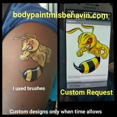 #bodypaintmisbehavin, I rarely have time for custom art at big events.