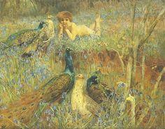"""Arthur Wardle (1864 - 1949), """"A Spring Idyll"""""""