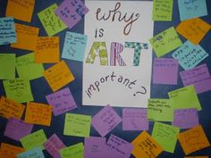 from Fayston Elementary Art: Why is ART important? (first week all-school effort... staff, too.)