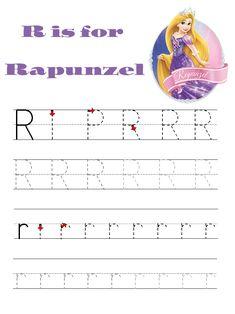 Disney alphabet writing practice pages