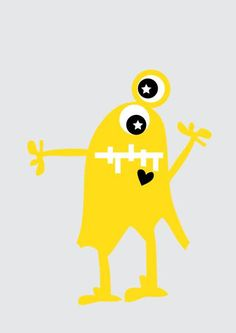 monster | free printable | poster | kids | nelleke wouters | yellow