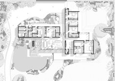 Image 10 of 18 gallery CM House / Sergio Zalamea. Plan Concept Architecture, Architecture Presentation Board, Architecture Drawings, Architecture Portfolio, Modern House Plans, Modern House Design, House Floor Plans, Large Floor Plans, Villa Plan