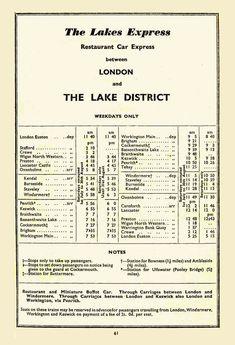 Bassenthwaite Lake, Train Timetable, Old Lorries, Old Train Station, British Rail, Windermere, Lake District, Preston, North West