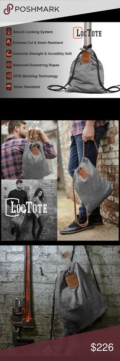 The Flack Sack by LocTote The Flack Sack is the bag that everybody, at some point in their life, wishes they had. Sometimes you just need a safe place to put your personal items and valuables while you carry them or do something else. This product lets you live more and worry less. loctote Bags