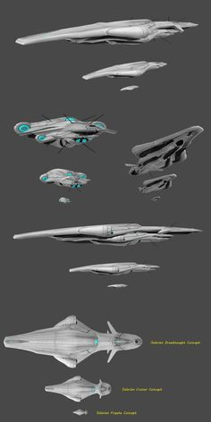 Salarian Ship Concept - Update by nach77