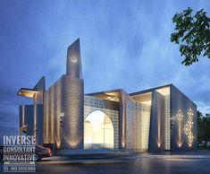 Mosque Architecture, Parametric Architecture, Religious Architecture, Architecture Visualization, Modern Architecture, House Ceiling Design, Modern Villa Design, Church Design, Building Exterior