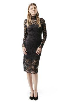 Flynn Lace Dress, Ebony/Black