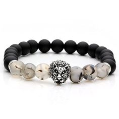 Koky Fashion Semi-precious Beads Bracelets with Lion Head for Men (Black) Koky http://www.amazon.com/dp/B01CU7M8LO/ref=cm_sw_r_pi_dp_Lzy7wb0H4DJ8V