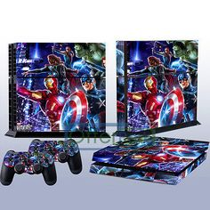NEW Cool Decal Skin Sticker For Playstation 4 PS4 Console   2 Controller Cover