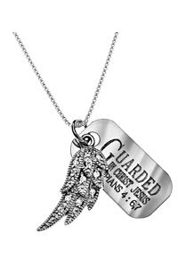Philippians 4:6,7 Guarded In Christ CZ Angel Wing Necklace $29.95 http://www.celebrateyourfaith.com/Philippians-4-58-6-7-Guarded-In-Christ-CZ-Angel-Wing-Necklace-P14744C539.cfm
