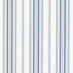 Morgan Stripe - Sky - Stripes - Wallcovering - Products - Ralph Lauren Home - RalphLaurenHome.com