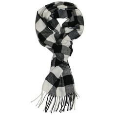 Veronz Soft Classic Cashmere Winter Scarf, Black White Buffalo Check... (9.88 AUD) ❤ liked on Polyvore featuring men's fashion, men's accessories, men's scarves and mens cashmere scarves