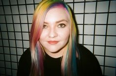 Rainbow Hair color on Nylon Beauty Edit Jade Taylor. Color done by Roxie Darling.