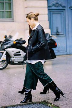Fashion Director Glamour (UK), Natalie Hartley, before Giambattista Valli, Paris, March 2014....