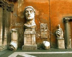 Fourth-century fragment of Constantine stored at the Senate House on the Capitoline HIll in Rome.