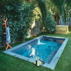 Un bassin dans le jardin #idee #ete #amenagement #exterieur #jardin #deco #dccv #piscine #enfants #farniente #detente